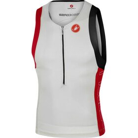 Castelli Free Tri Top Uomo, white/red